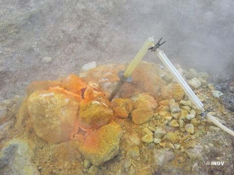 Fig.2 – Sistema di campionamento di gas vulcanici di alta temperatura.