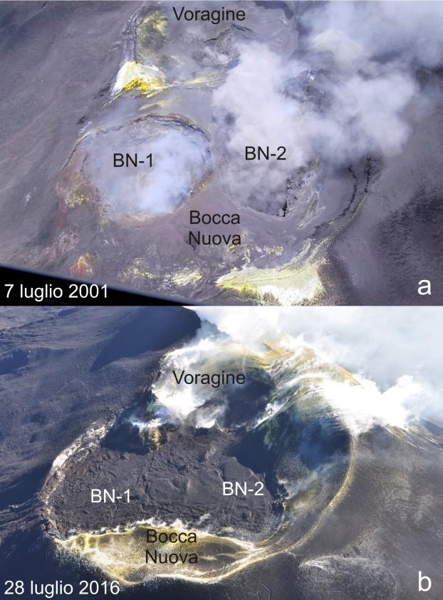 Bocca Nuova (Etna) Luglio 2001_2016