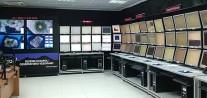 Figura 8 - Sala di monitoraggio dell'INGV – Osservatorio Vesuviano dove si effettuano le attività di sorveglianza h24 del Vesuvio e degli altri vulcani attivi della Campania.